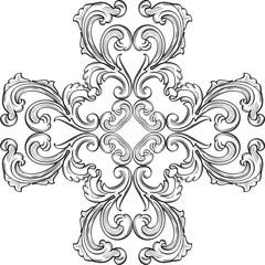 Baroque rosette element