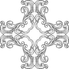 Baroque rosette fine element