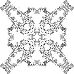 Baroque rosette