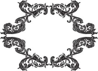 Black victorian frame