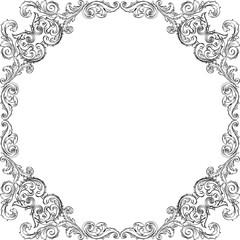 Retro square art frame