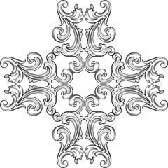 The baroque rosette art element