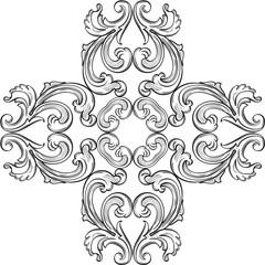 The baroque rosette element