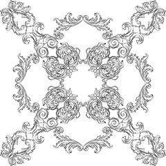 Victorian baroque rosette art