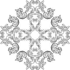 Victorian baroque rosette good art