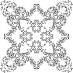 Vintage baroque nice rosette element