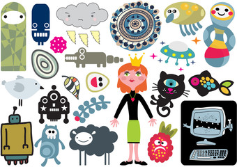 Mix of vector images and icons. vol.15