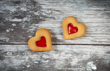 heart shaped cookies  for valentine's day
