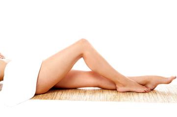 Legs of pretty woman, soft skin.