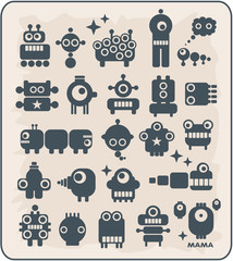 Robots, monsters, aliens collection #2.