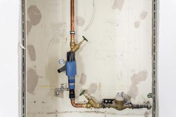 Rohr Wasserleitung  Baustelle