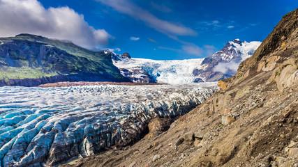 Photo sur Plexiglas Glaciers Wonderful Vatnajokull glacier and mountains in Iceland