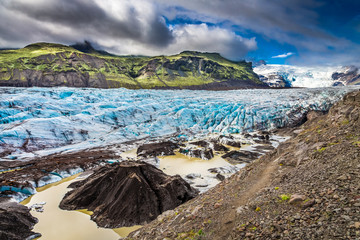 Photo sur Plexiglas Glaciers Stunning Vatnajokull glacier and mountains in Iceland