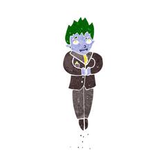 cartoon floating vampire