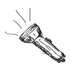 Simple doodle of a torch
