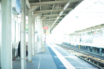 Deurstickers Treinstation 駅のホーム