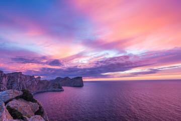 Cap de Formentor, Mallorca, Abenddämmerung