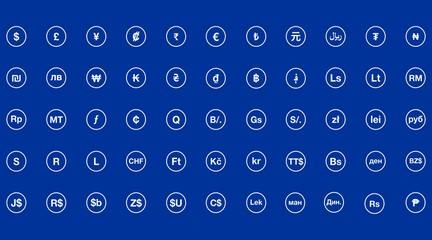 Symbols of money. Set