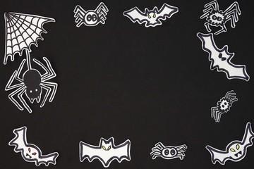 halloween frame bats and spider frame horizontal