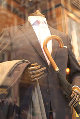 Suit on Display in Moorgate, London