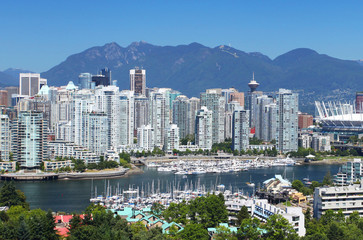 Fotomurales - The city of Vancouver in Canada