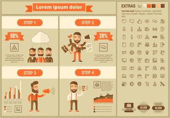 Social Media flat design Infographic Template