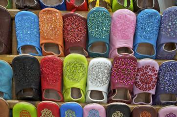 Marrakech - les babouches colorées