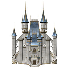 Fairy Tale Castle - 3D Rendered Fantasy Building