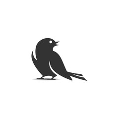 Dark Grey Bird Logo