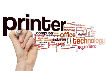 Printer word cloud concept