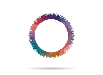 low poly icon colorful abstract ring