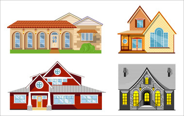House illustration set