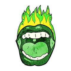 cartoon halloween mouth