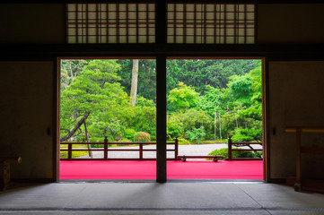 Aluminium Prints Place of worship 京都 曼殊院門跡 新緑