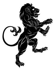 Lion on Hind Legs