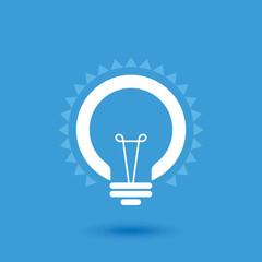 Creative idea in bulb shape as inspiration concept. Vector design element.