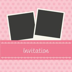 Sweet Pink Invitationn Card