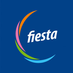 Abstract vector logo for the fiesta on a blue background