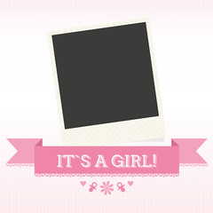 "Sweet Pink Card ""It`s a Girl"""