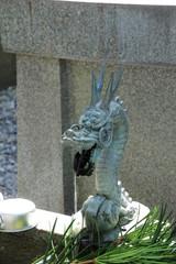 四国霊場第27番札所 岩本寺手水場の龍