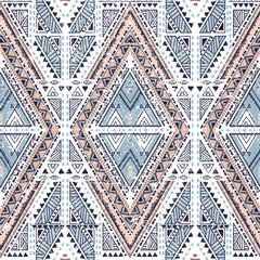 Ethnic geometrical pattern, tribal seamless background