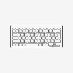 Computer keyboard monochrome icon