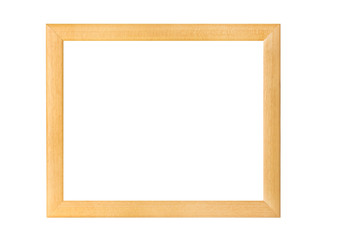 beige with gold inline Wooden frame cornice cutout on white background