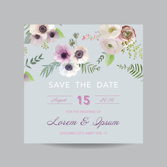 Invitation or Greeting Card - for Wedding, Baby Shower