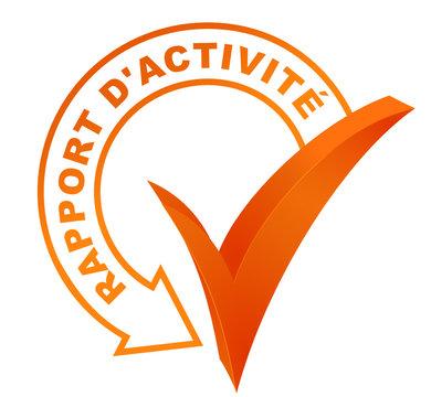 rapport d'activité sur symbole validé orange