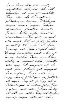 Handwriting old letter - latin text Lorem ipsum background