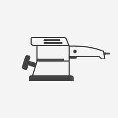 Electric sander monochrome icon