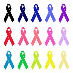 Single colour awareness ribbons
