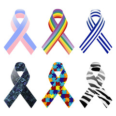 Awareness ribbons pattern