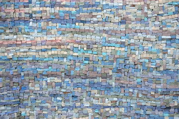 Old blue and lilac mosaic texture